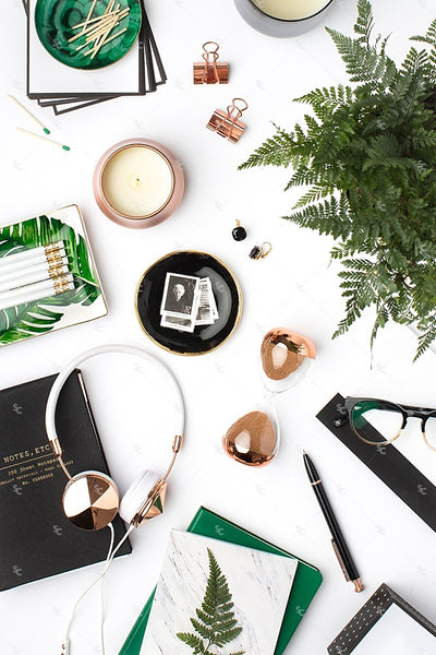 Styled Stock Photography Emerald and Copper Desktop Collection #17