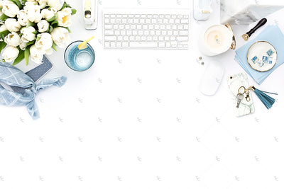 Styled Stock Photography French Blue Desk Collection #25