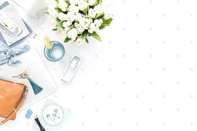 Styled Stock Photography French Blue Desk Collection #22