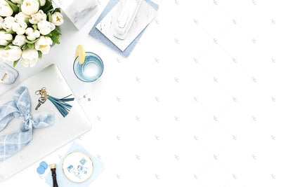 Styled Stock Photography French Blue Desk Collection #21
