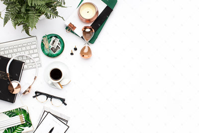 Styled Stock Photography Emerald and Copper Desktop Collection #24