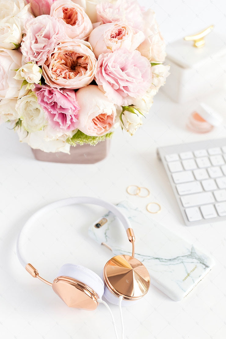 Styled Stock Photography Blush Pink Desk Collection2 #12