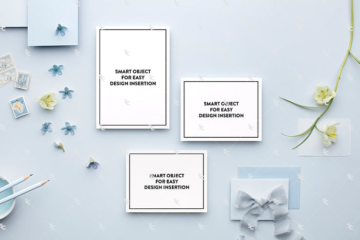 MaeMae x SC Collection: French Blue SET 2 | Invitation Suite