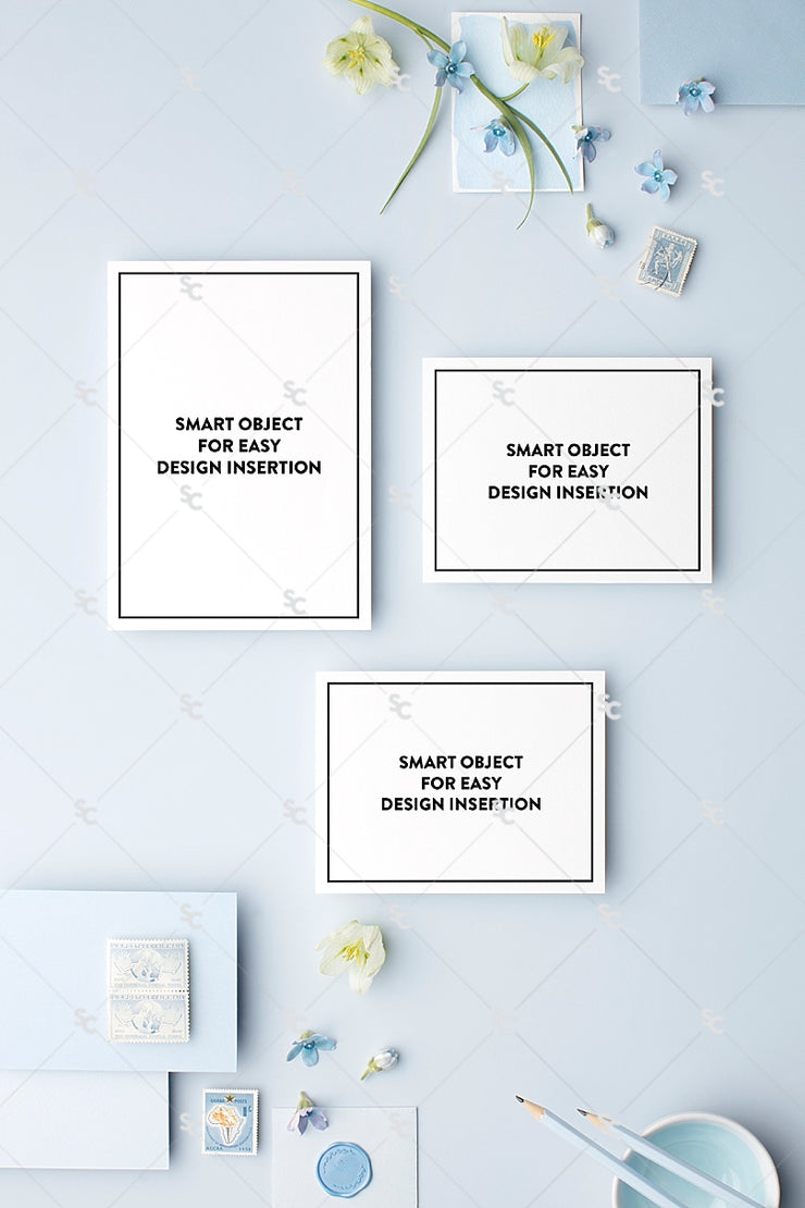 MaeMae x SC Stationery Collection: French Blue SET 1 | Invitation Suite
