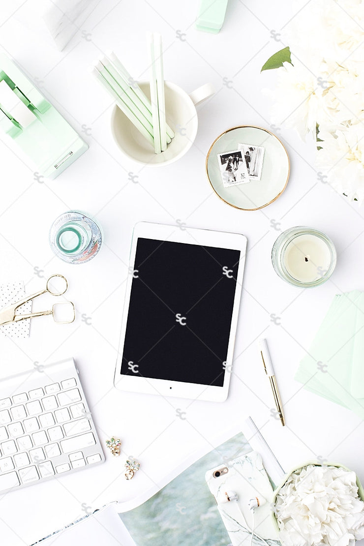 Styled Stock Photography Mint Desk Collection #19