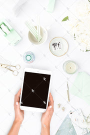 Styled Stock Photography Mint Desk Collection #20