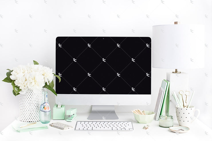 Styled Stock Photography Mint Desk Collection #08