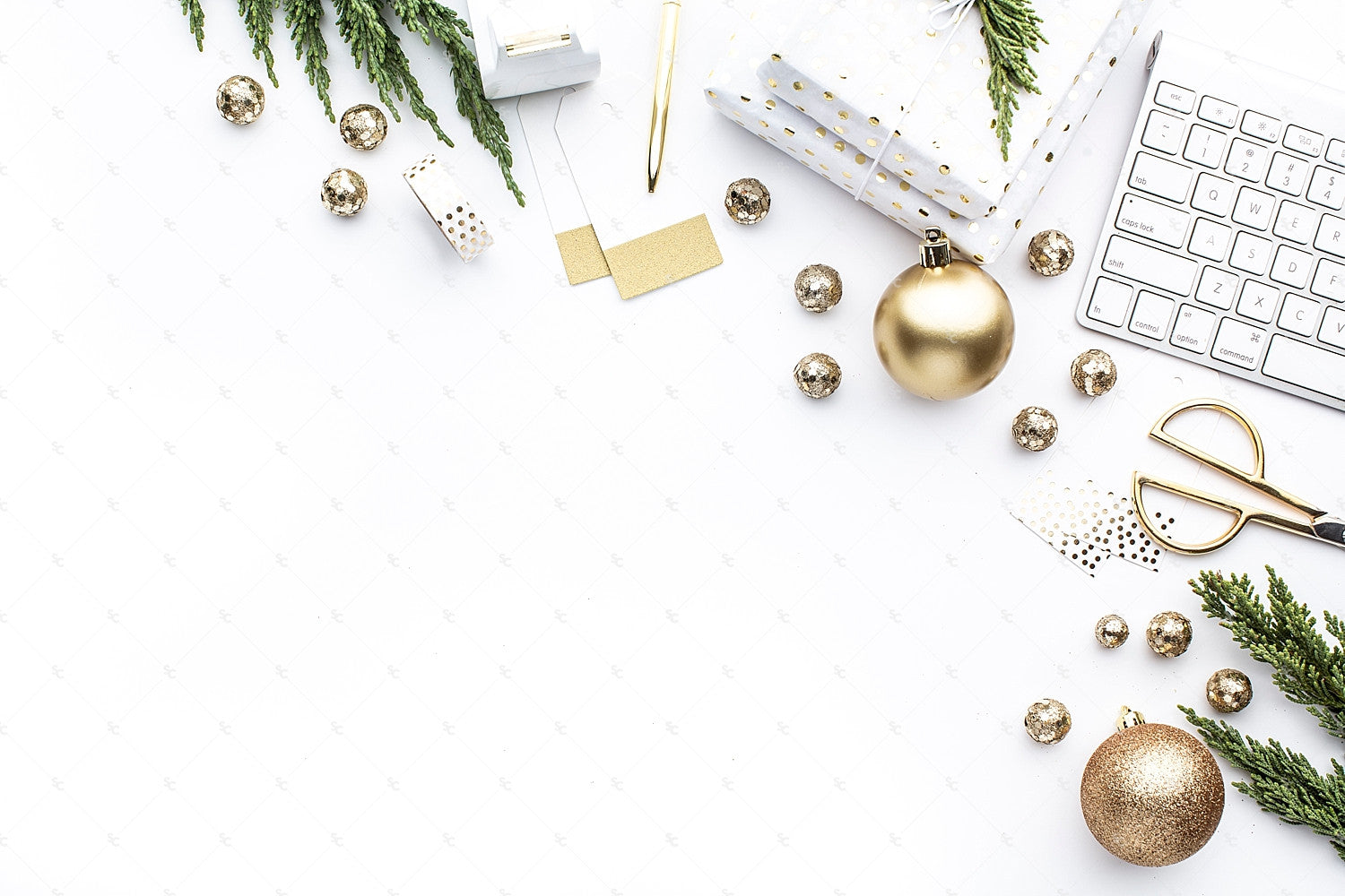 Holiday Styled Desk Stock for Creatives from the SC Stockshop