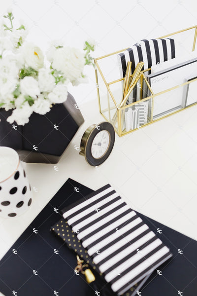 Lifestyle Styled Stock Collection Black and White SET #08