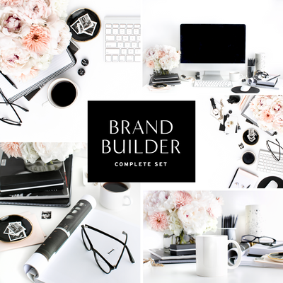 Styled Stock Photography Black, White and Blush Desktop Collection
