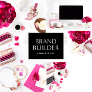 Styled Stock Photography Dark Pink Desktop Collection