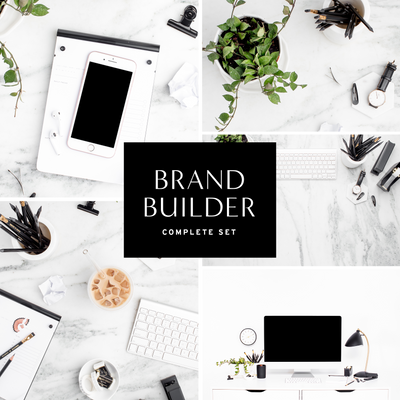 Modern Black & White Desk Brand Builder Set