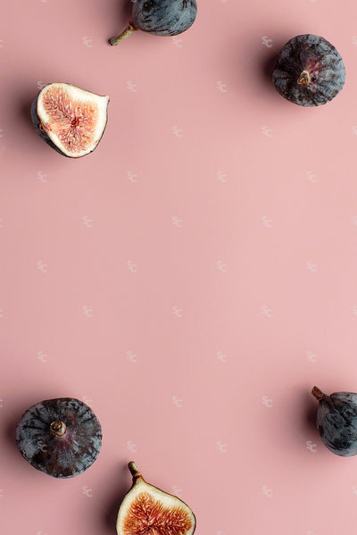 fall figs on a pink background