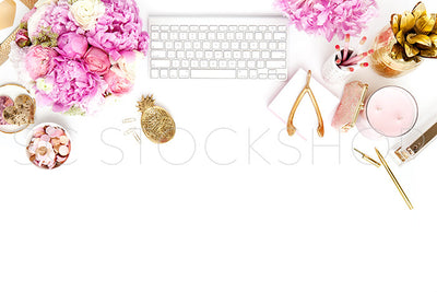 Peony Pink Desk Collection #04