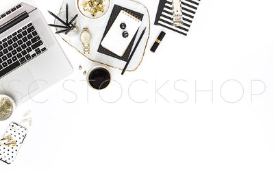 Black & White Desk Collection #02