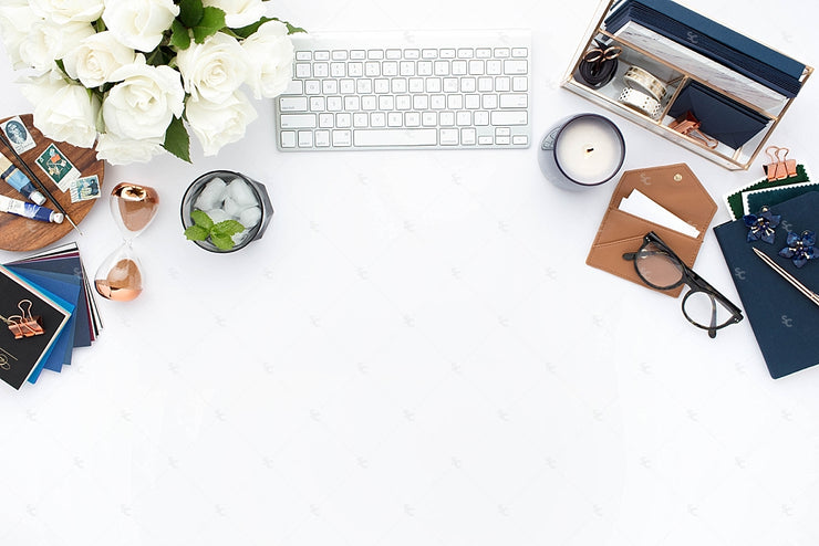 Styled Stock Photography Navy Desk Collection #02