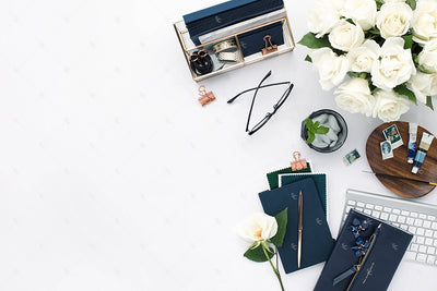 Styled Stock Photography Navy Desk Collection #05