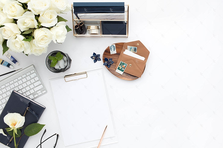 Styled Stock Photography Navy Desk Collection #06