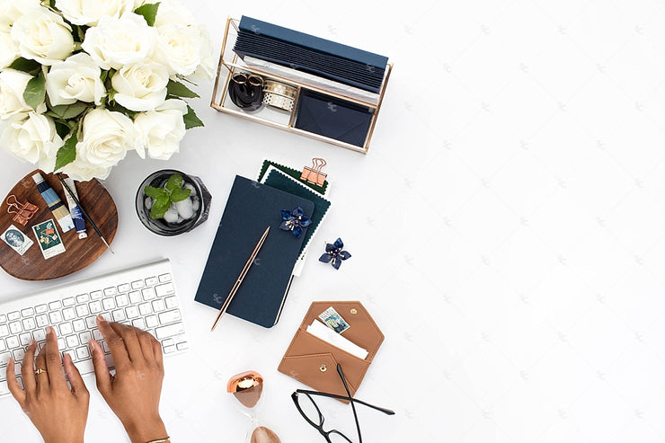 Styled Stock Photography Navy Desk Collection #10