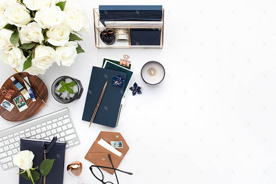 Styled Stock Photography Navy Desk Collection #11