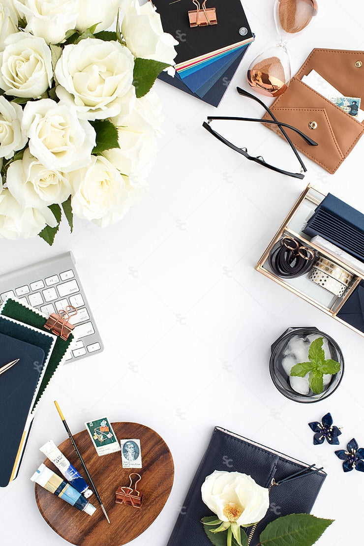 Styled Stock Photography Navy Desk Collection #12
