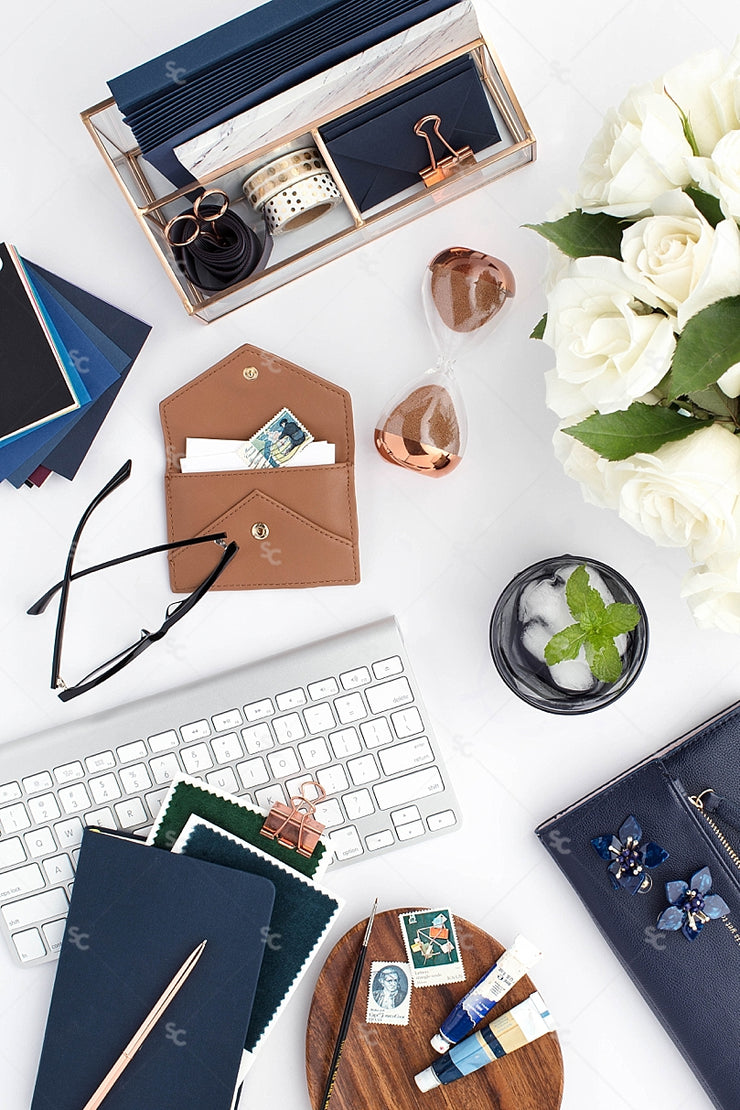 Styled Stock Photography Navy Desk Collection #14