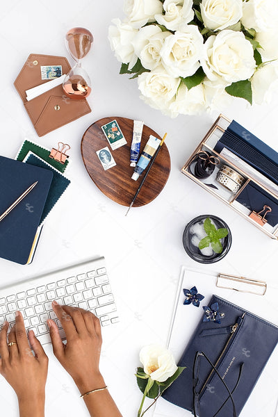 Styled Stock Photography Navy Desk Collection #16