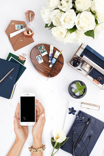 Styled Stock Photography Navy Desk Collection #17