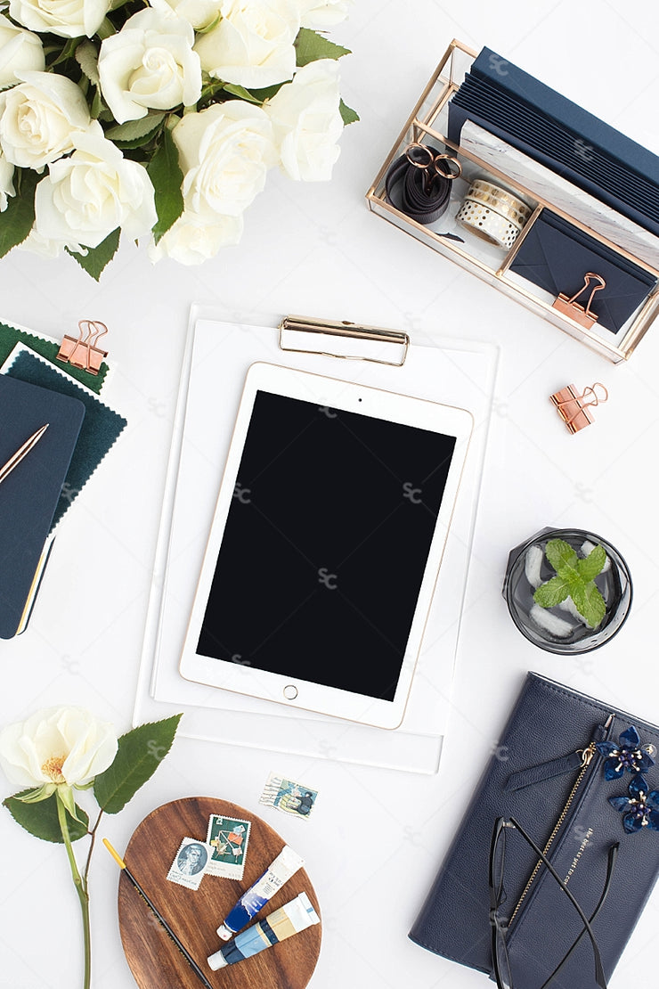 Styled Stock Photography Navy Desk Collection #18
