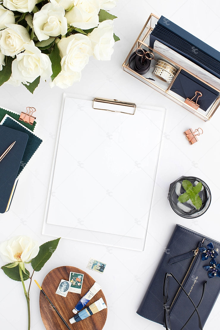 Styled Stock Photography Navy Desk Collection #19
