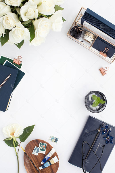 Styled Stock Photography Navy Desk Collection #20
