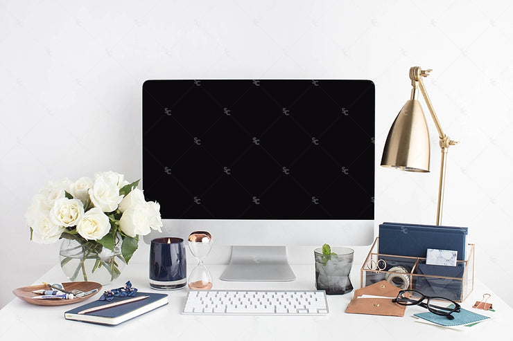 Styled Stock Photography Navy Desktop Collection