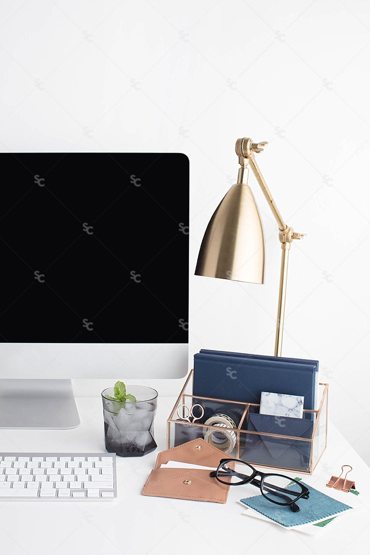 Styled Stock Photography Navy Desk Collection #22