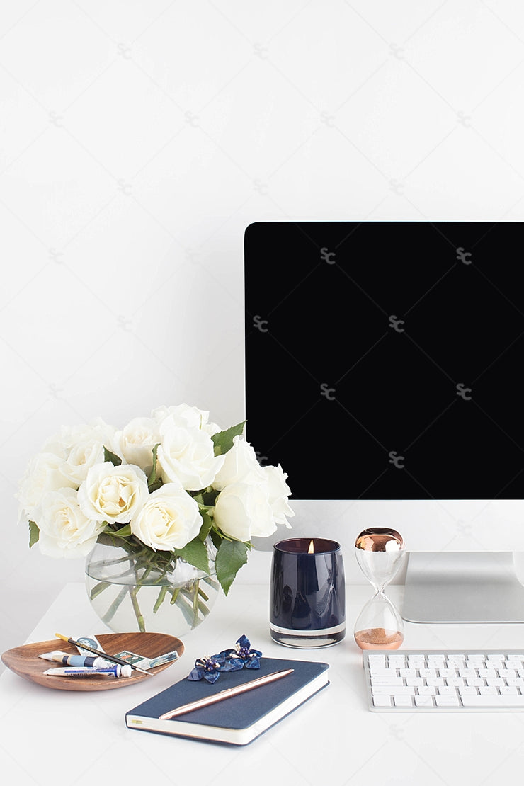 Styled Stock Photography Navy Desk Collection #23