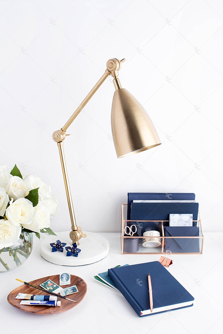 Styled Stock Photography Navy Desk Collection #26