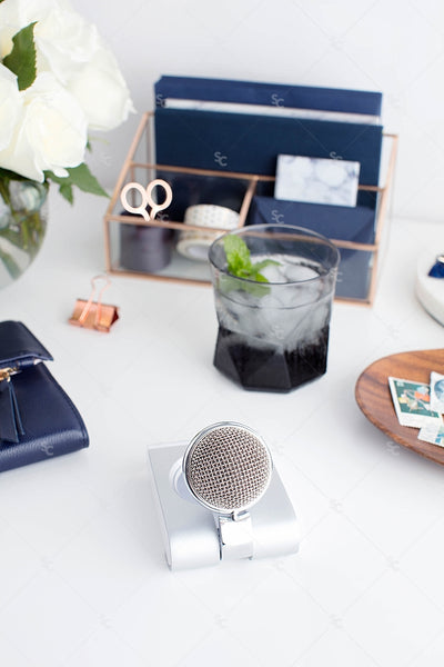 Styled Stock Photography Navy Desk Collection #27