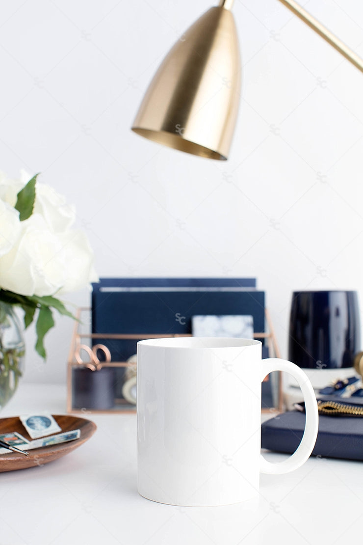 Styled Stock Photography Navy Desk Collection #29