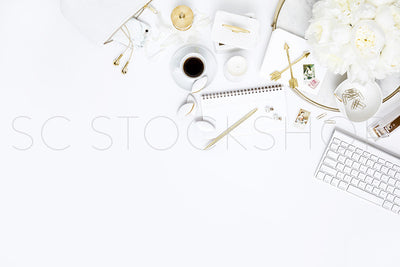 White on White Desk Collection #04