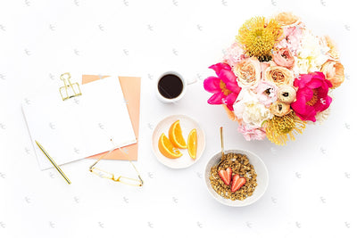 Styled Stock Photography Citrus Desk Collection #38