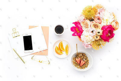 Styled Stock Photography Citrus Desk Collection #37