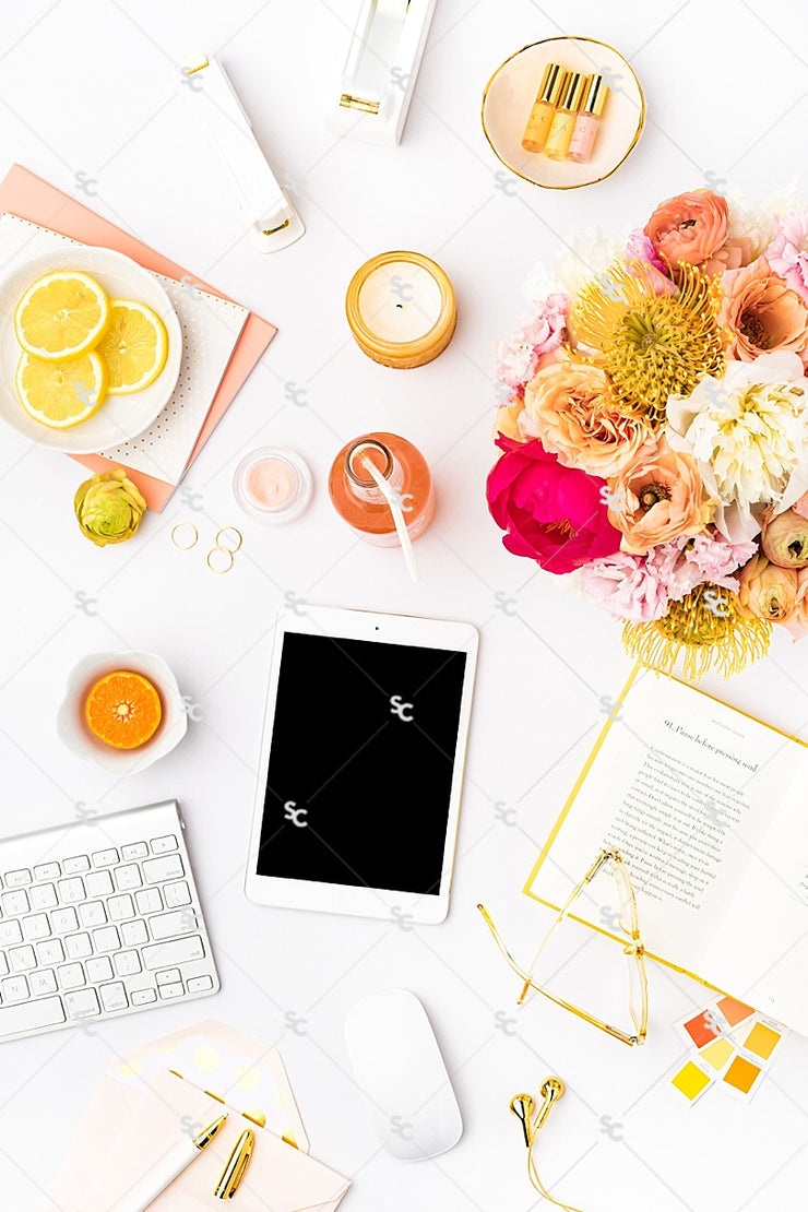 Styled Stock Photography Citrus Desk Collection #21