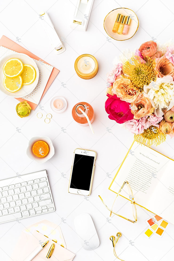 Styled Stock Photography Citrus Desk Collection #22