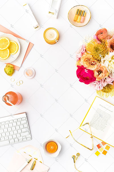 Styled Stock Photography Citrus Desk Collection #23