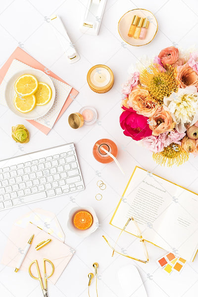 Styled Stock Photography Citrus Desk Collection #18