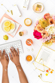 Styled Stock Photography Citrus Desk Collection #19