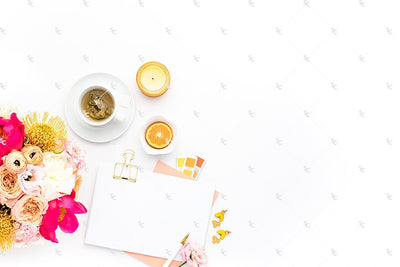 Styled Stock Photography Citrus Desk Collection #36