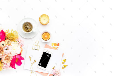 Styled Stock Photography Citrus Desk Collection #35