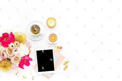 Styled Stock Photography Citrus Desk Collection #34