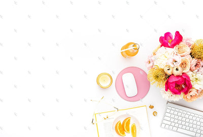Styled Stock Photography Citrus Desk Collection #33