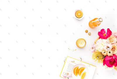 Styled Stock Photography Citrus Desk Collection #32
